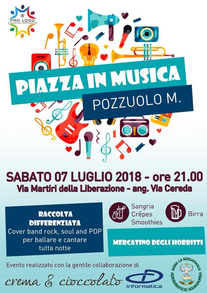 programma Piazza in musica sabato 7 luglio 2018 concerto o